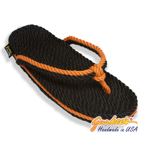 Signature Tobago Black & Rust Rope Sandals