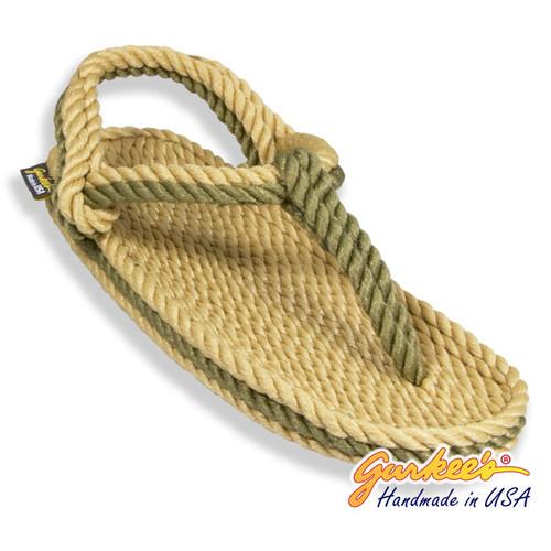 Signature Trinidad Tan & Olive Rope Sandals