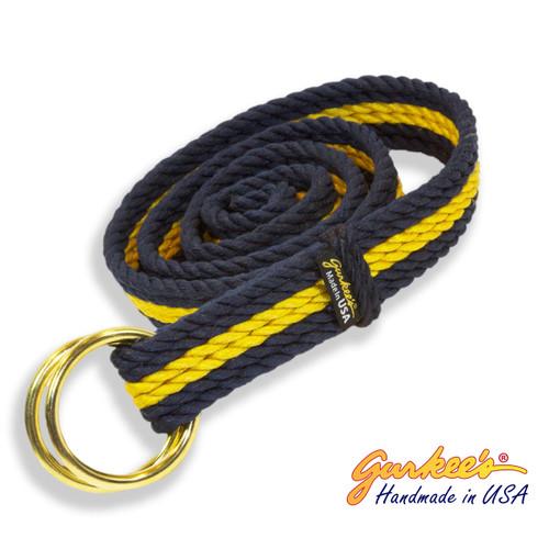 Signature Handmade Blue and Gold Belt