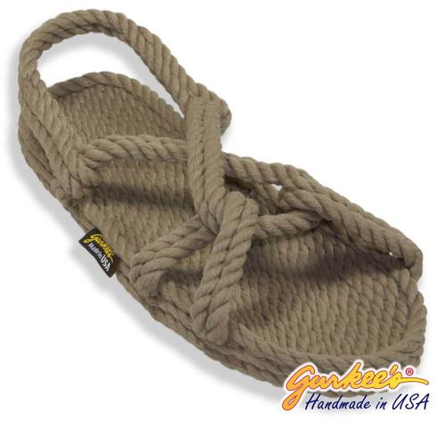 Classic Barbados Khaki Rope Sandals