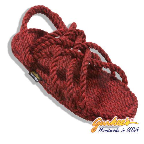 Signature Neptune Red Velvet Rope Sandals