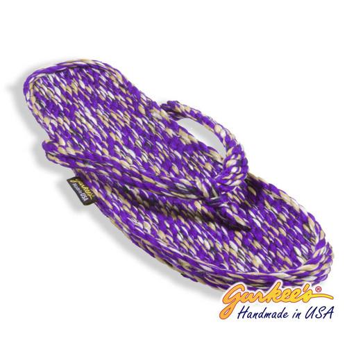 Tobago Purple Tie Dye Rope Sandals