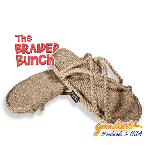 Braided Bunch Bahama Hemp Color Rope Sandals