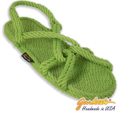 Classic Barbados Key-Lime Rope Sandals