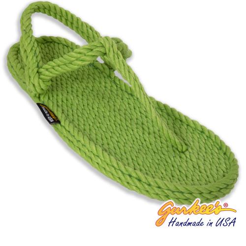 Classic Trinidad Key-Lime Rope Sandals