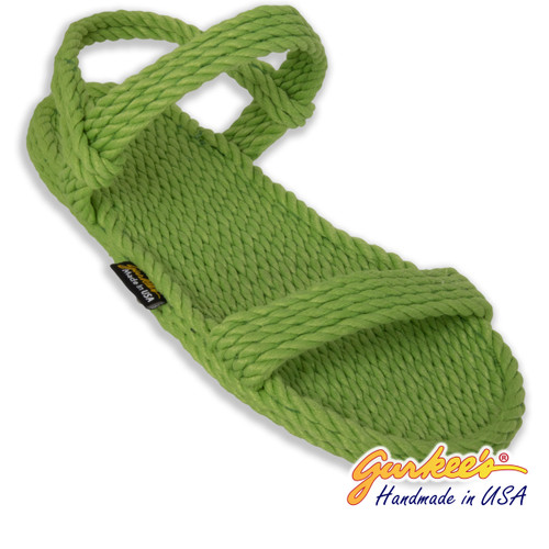 Classic Montego Key-Lime Rope Sandals