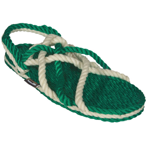 Signature Neptune Green and Snow Rope Sandals