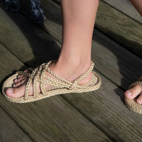 Braided Bunch Neptune Tan Rope Sandals
