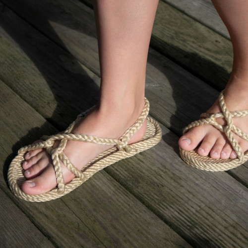Braided Bunch Barbados Tan Rope Sandals