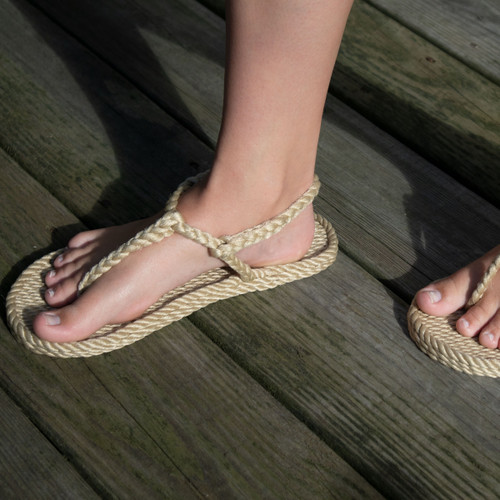 Braided Bunch Trinidad Tan Rope Sandals