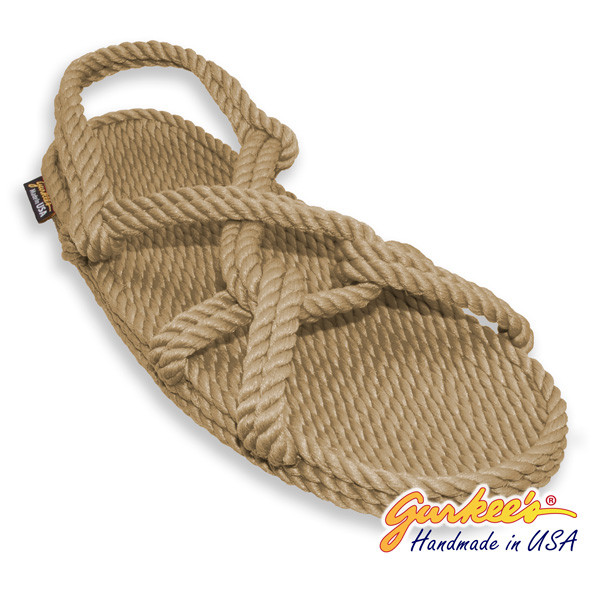 Classic Barbados Tan Rope Sandals