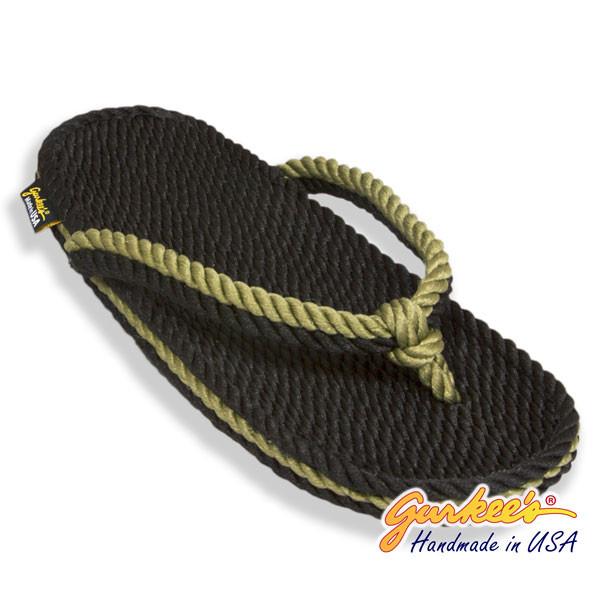 Signature Tobago Black & Olive Rope Sandals