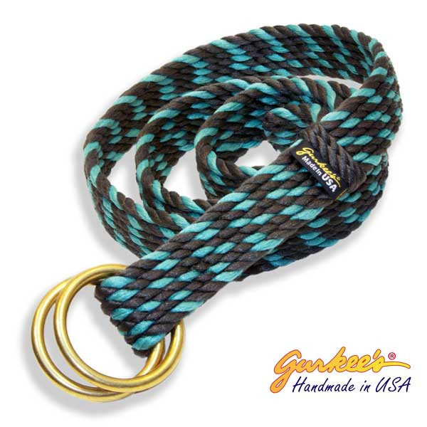 Signature Handmade Charcoal and Teal Belt