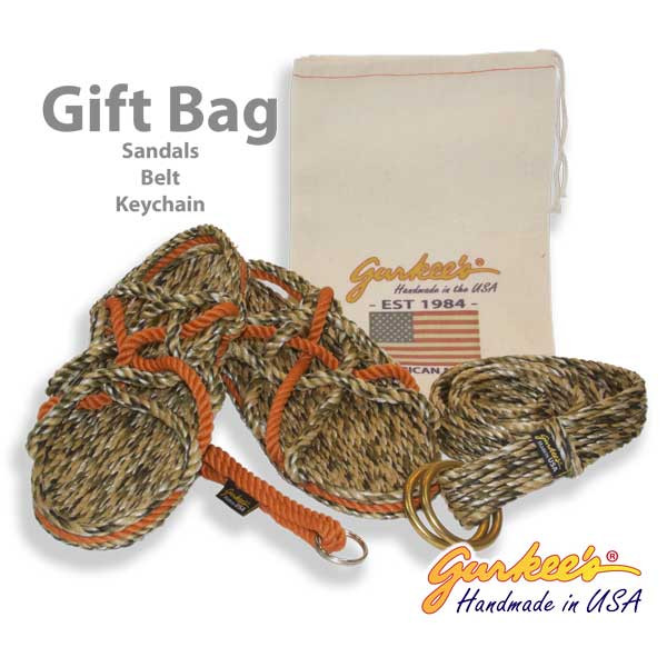 Autumn Camo Gift Bag (Sandals, Belt, Keychain)