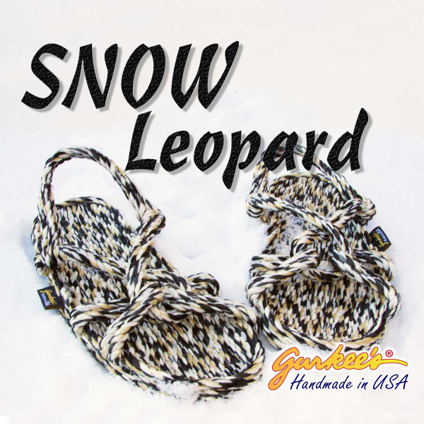 Barbados Snow Leopard Rope Sandals