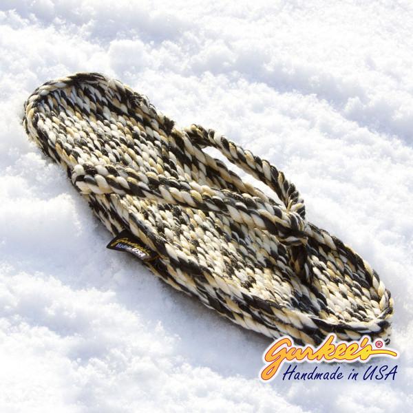 Tobago Snow Leopard Rope Sandals