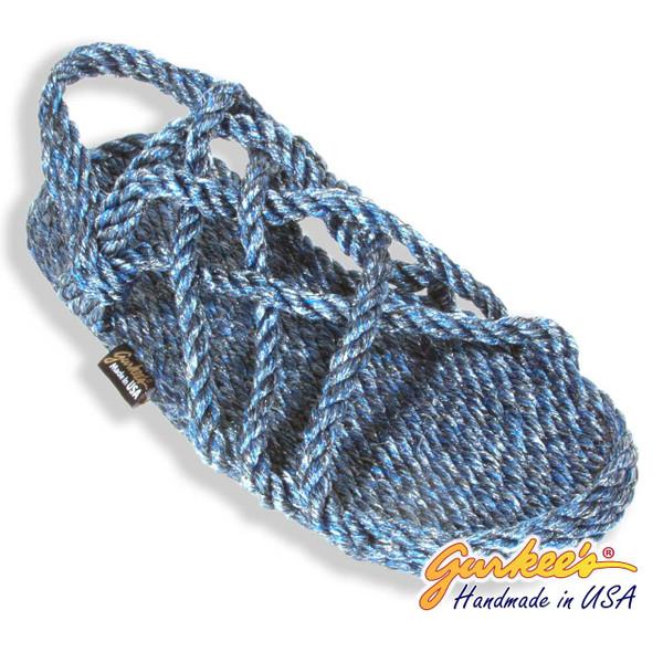 Signature Neptune Blue Ice Rope Sandals