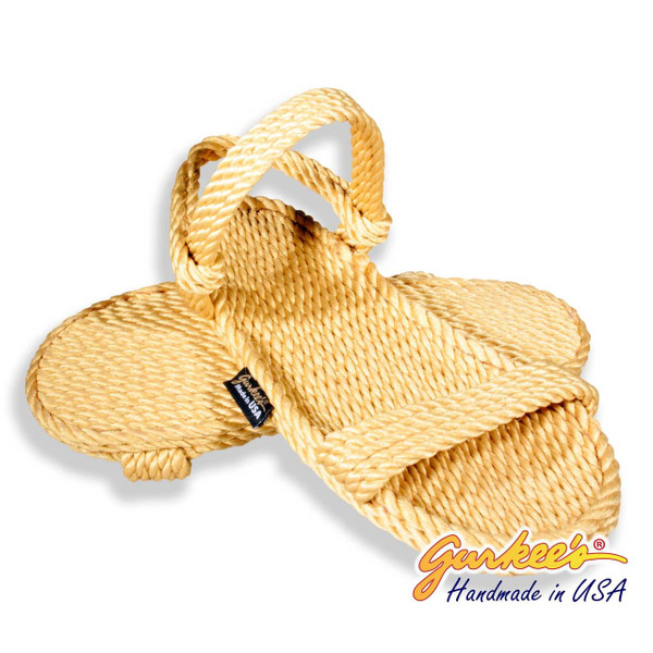 Classic Montego Goldenrod Rope Sandals