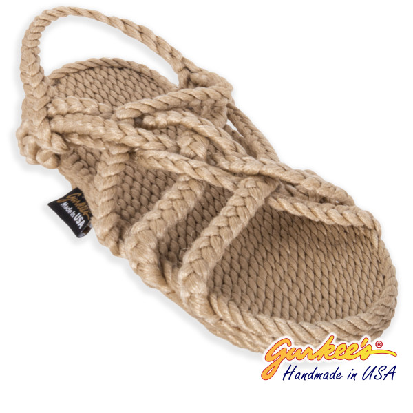 Braided Bunch Bahama Tan Rope Sandals