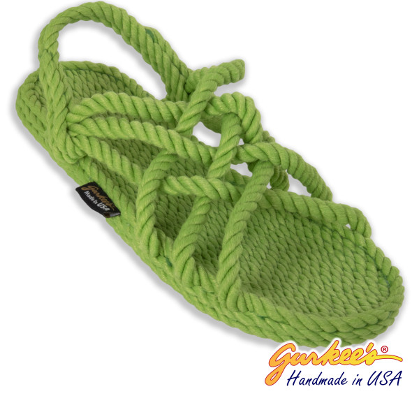 Classic Neptune Key-Lime Rope Sandals