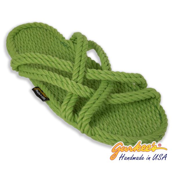 Classic Bahama Key-Lime Rope Sandals
