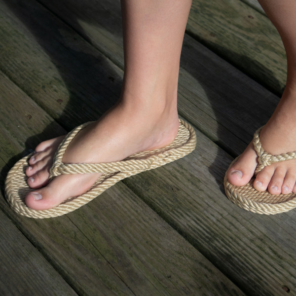 Braided Bunch Tobago Tan Rope Sandals