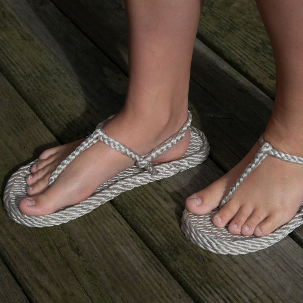 Braided Bunch Trinidad Platinum Rope Sandals