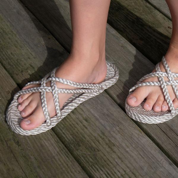 Braided Bunch Bahama Platinum Rope Sandals