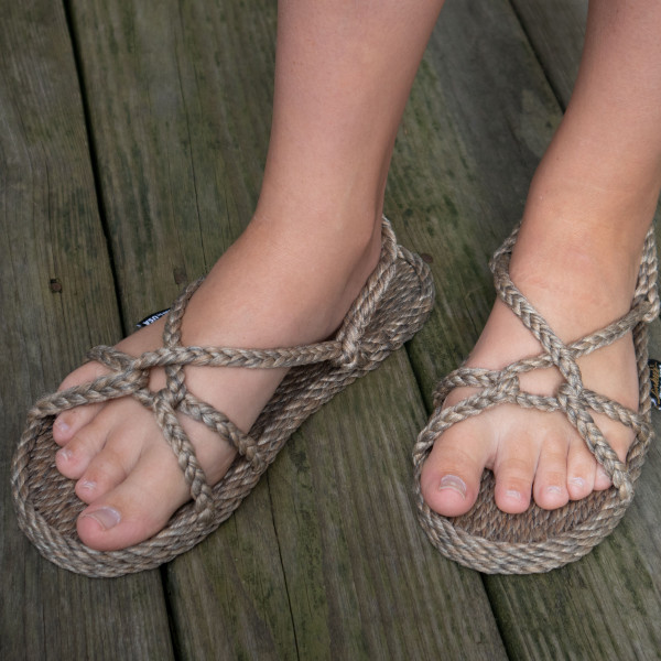Braided Bunch Barbados Hemp Color Rope Sandals