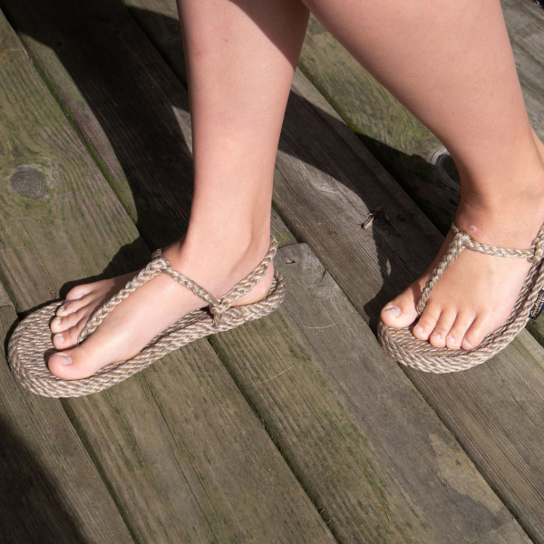 Braided Bunch Trinidad Hemp Rope Sandals
