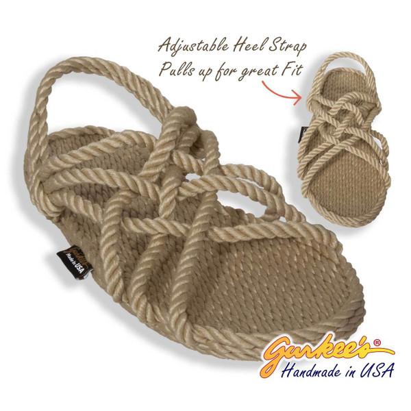 Classic Neptune Tan Rope Sandals