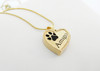 Custom Paw Heart Keepsake with Rope Detail