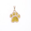 Custom Paw Pendant with Gold Paws
