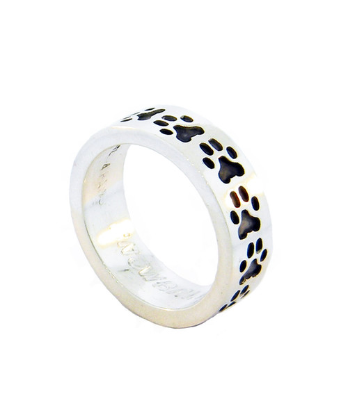 Journey Ring with Recessed Cat Paws
