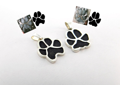 A Single Paw Pendant with Custom Paw