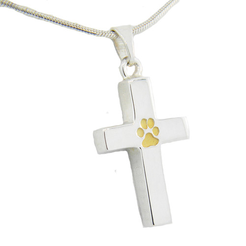 Cross Keepsake with Custom Paw