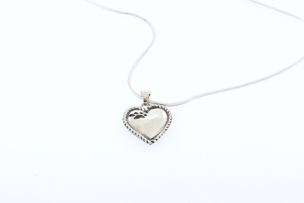 Heart Pendant with Rope Trim