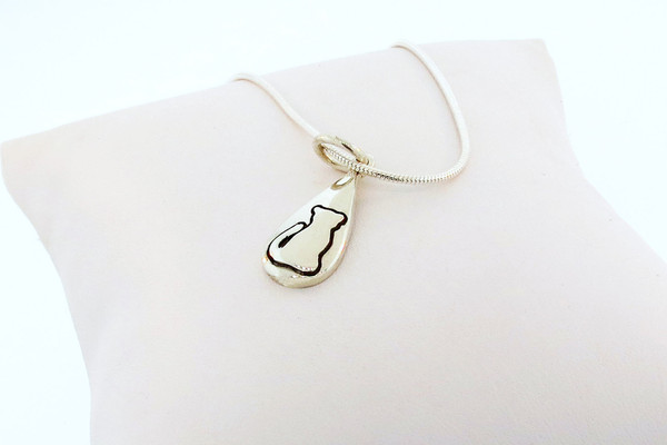 Feline Tear Drop Pendant