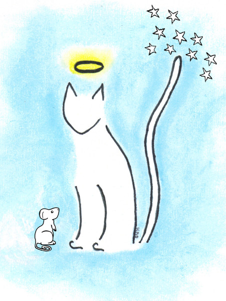 4 Paws Sympathy Card with Tree - Heavenly Cat