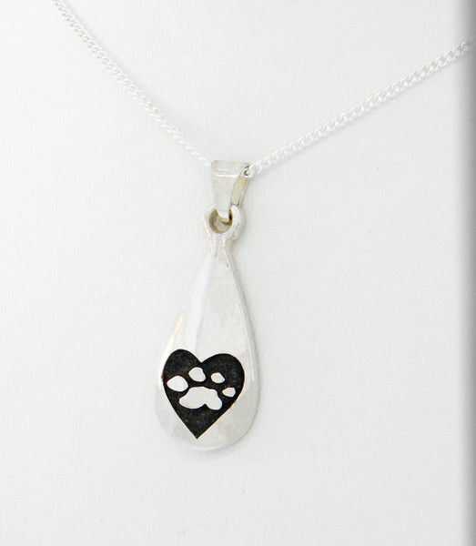 Captured Heart Tear Drop Pendant