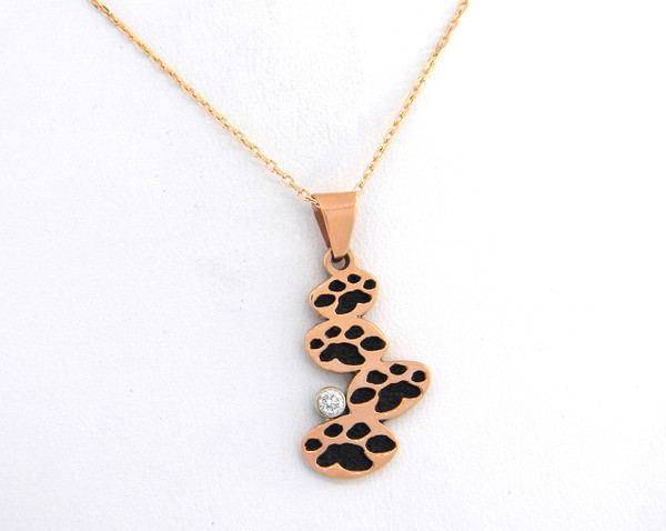 Classic Journey Pendant with Diamond in 14K Rose Gold