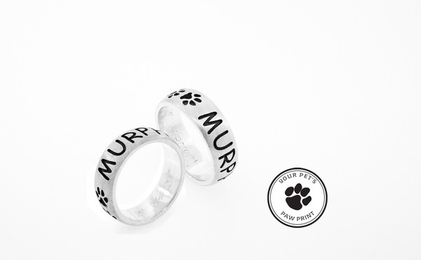 Dome Version Companion Ring with Custom Paw