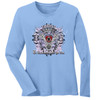 To Thine Own Self Be True Long Sleeve Blue Tee. New!