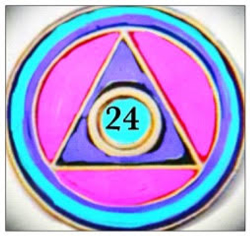 24 Hour Circle Triangle Lapel Pin