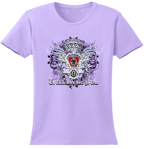 New! To Thine Own Self Be True Lavender Tee