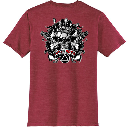 New! Surrender Skull Red Tee