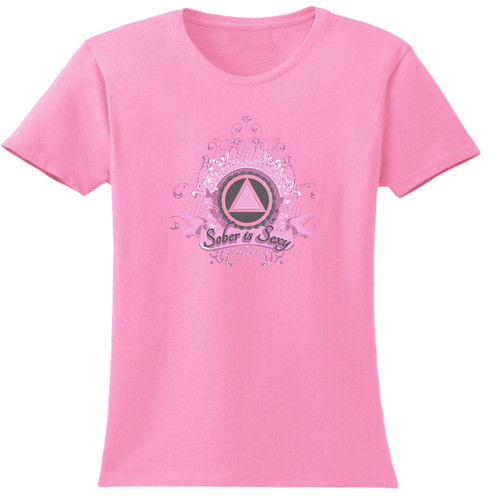 New! Sober Is Sexy Pink Tee
