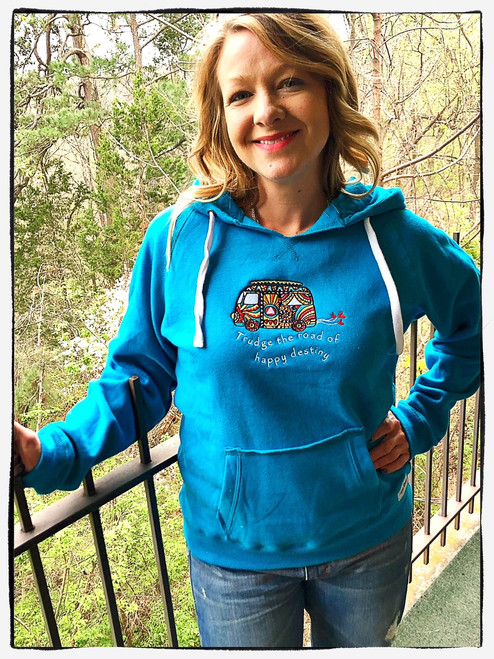 Trudge the Road Hoodie - Teal