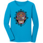 Sugar Skull Turquoise Long Sleeve Tee. New!