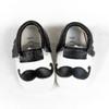 Moccasins - Mustache (Black & White)